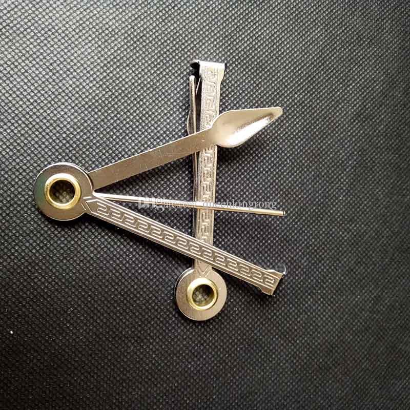 3 in 1 Räucherrohr Reinigungswerkzeug Edelstahl-Rohrreiniger 3.2inch Pick-Löffel-Tamper-Messer-Faltendesign-Zubehör