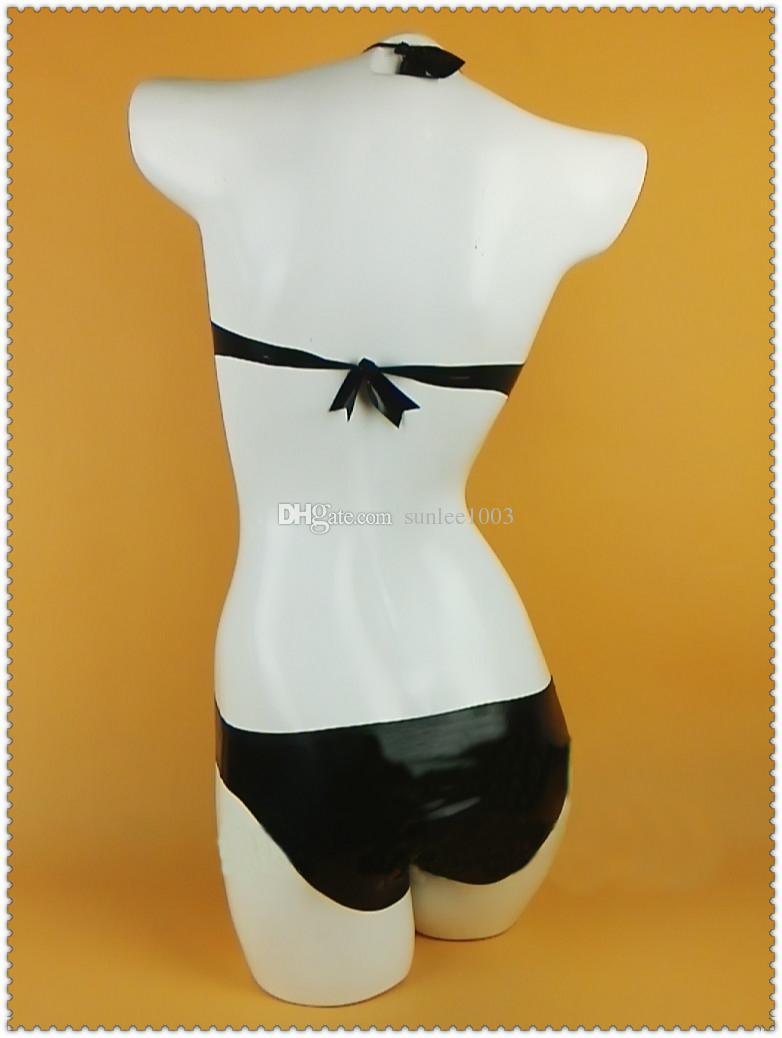new design hot women exotic handmade Sexy Latex Bikini Catsuits female Swimsuit Fetish Uniform Zentai Costumes customize