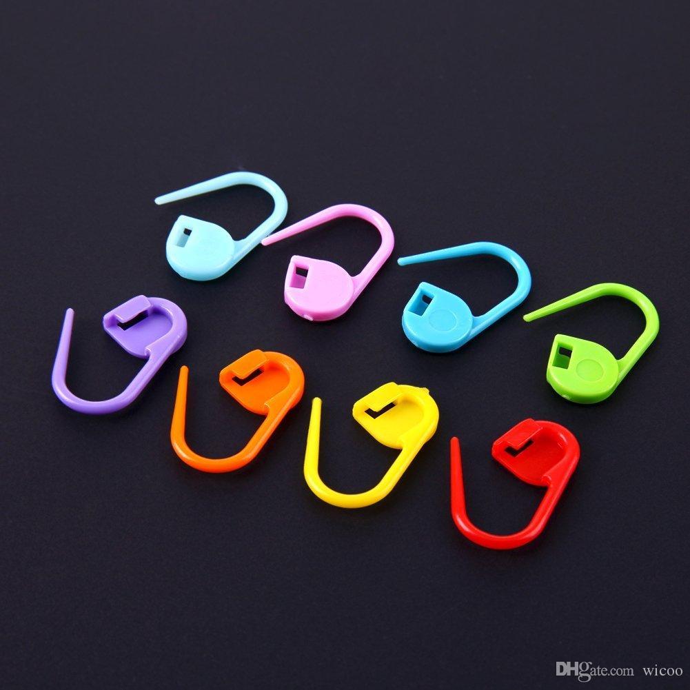 120 adet / kutu 10 Renkler Mini Durumda Örgü Aksesuarları Tığ Kilitleme Dikiş Plastik İşaretleyiciler Dikiş Aksesuarları Işaretleyici Aracı