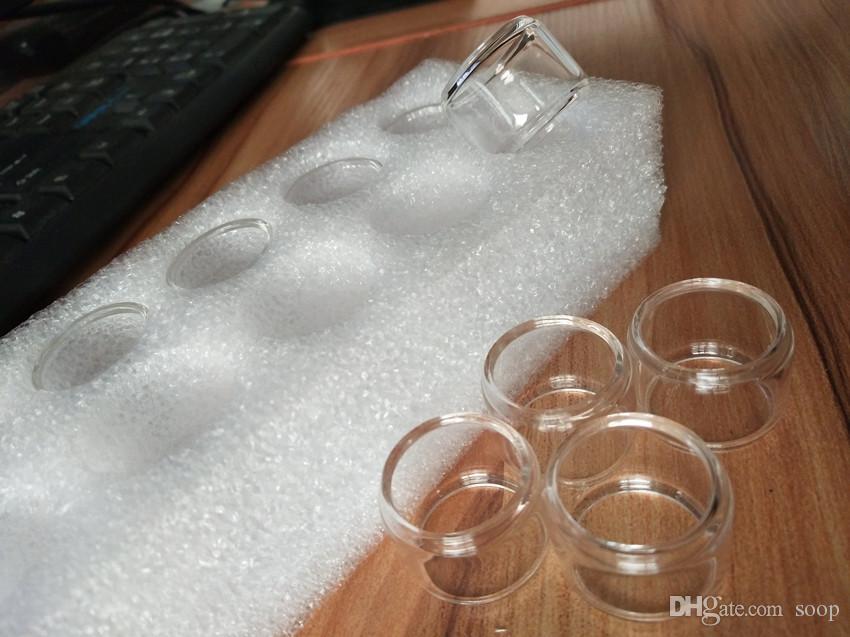 TFV12 Príncipe Tanque 8 ml Tubos de Vidro de Pirex Prolongado Fat Boy Tubo de Vidro de Cor Clara Substituição Manga para Vara Príncipe Smok Mag