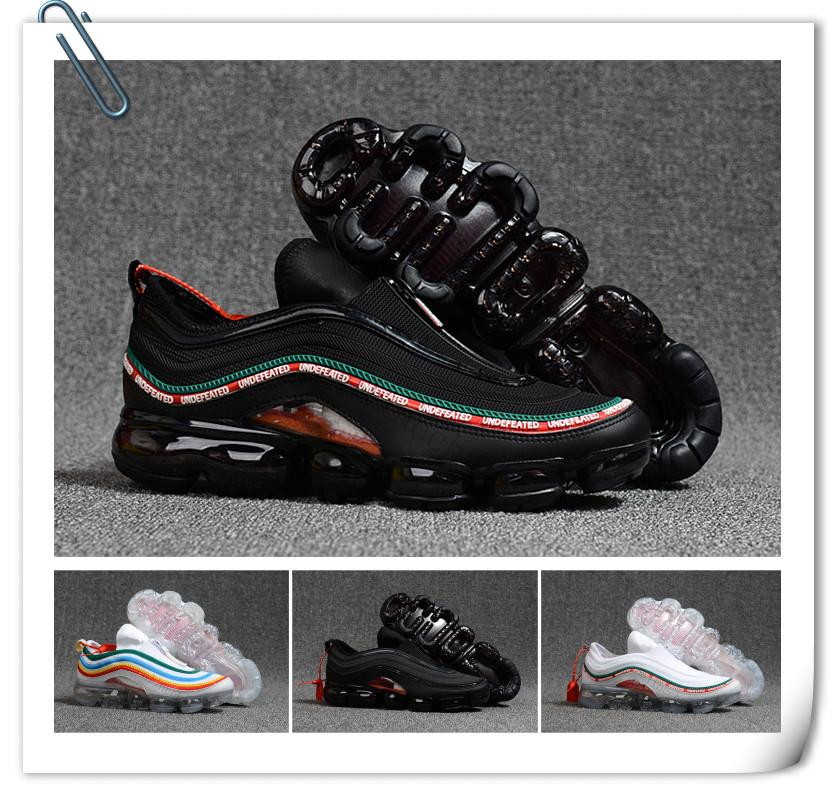 c92660460a3 2018 Vapormax 97 OG Bullet Running Shoes 2018 Men Women Cushion Undefeated  Silver Metallic Gold Sports Athletic Run Shoes Outdoor Sneaker Running Shoes  For ...