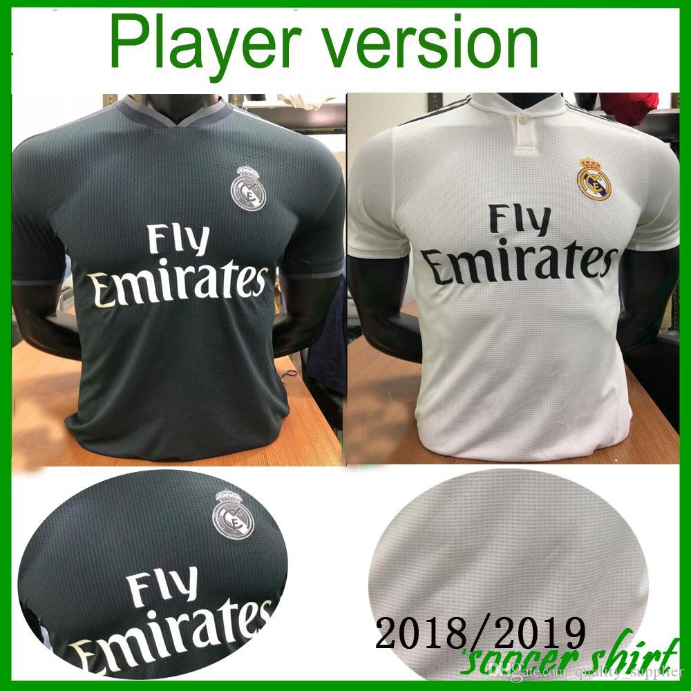 reputable site e4e14 94b9f Player version Real madrid 2019 RONALDO ASENSIO BALE ISCO Home away soccer  jersey RAMOS BENZEMA shirt 2018 real madrid football jerseys