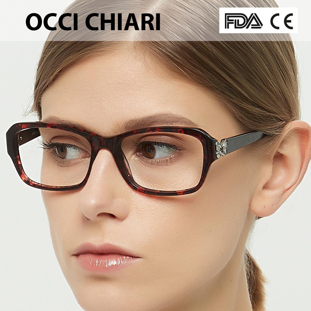 92ad8b608963 2019 OCCI CHIARI Woman Full Rim Eyeglasses Frame Brand Designer Spring Hinge  2018 New Eyeglasses Clear Optical Frames W CANALI From Gocan