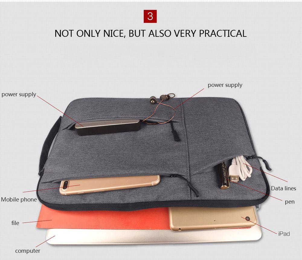 Чехол для ноутбука Сумка для ноутбука Ipad Case для 11 12 13 14 15 15,6-дюймовый мягкий чехол для Retina Pro 13,3