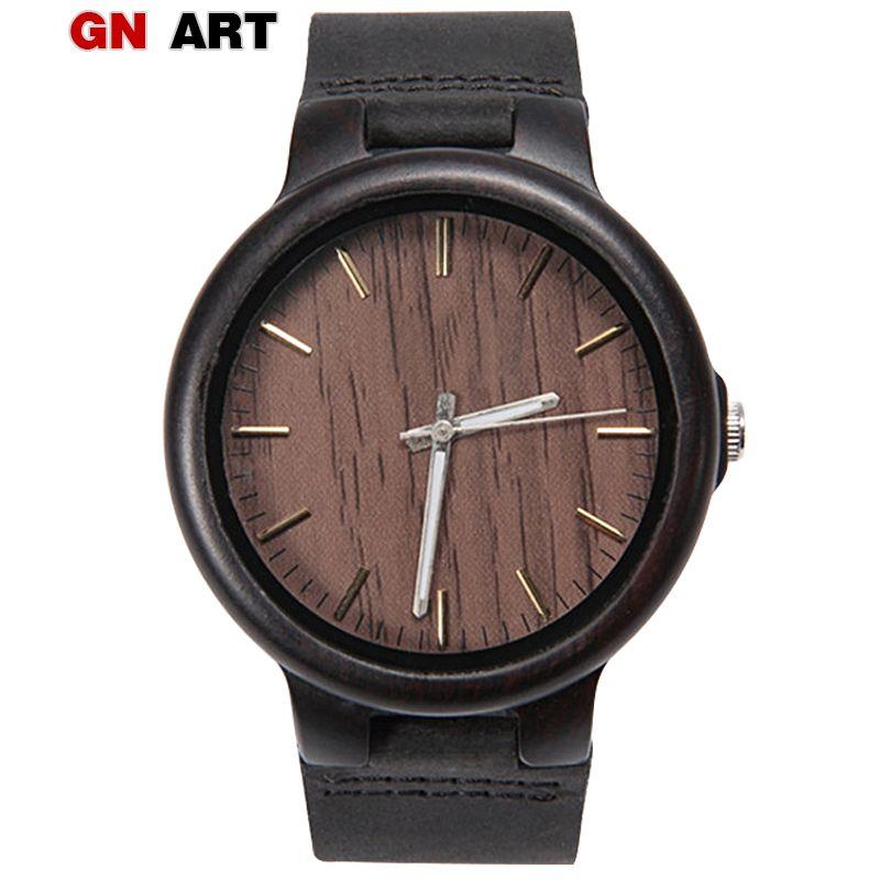 ff26c97c7 Compre GNART Relojes De Madera Para Hombres Reloj De Pulsera Analógico De  Cuarzo Reloj Automático De Pulsera Wacht Band Negro Personalizado  Mayoristas A ...