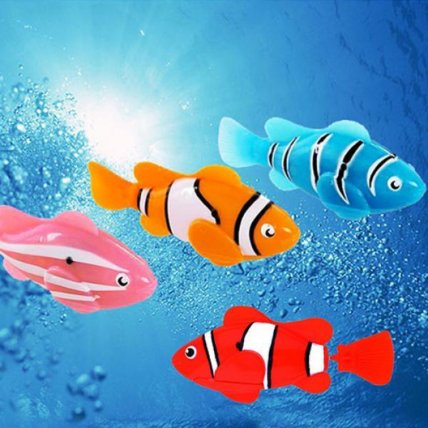Cute Electronic Pets Toy Fish Tank Robot Fish Swimming Clownfish