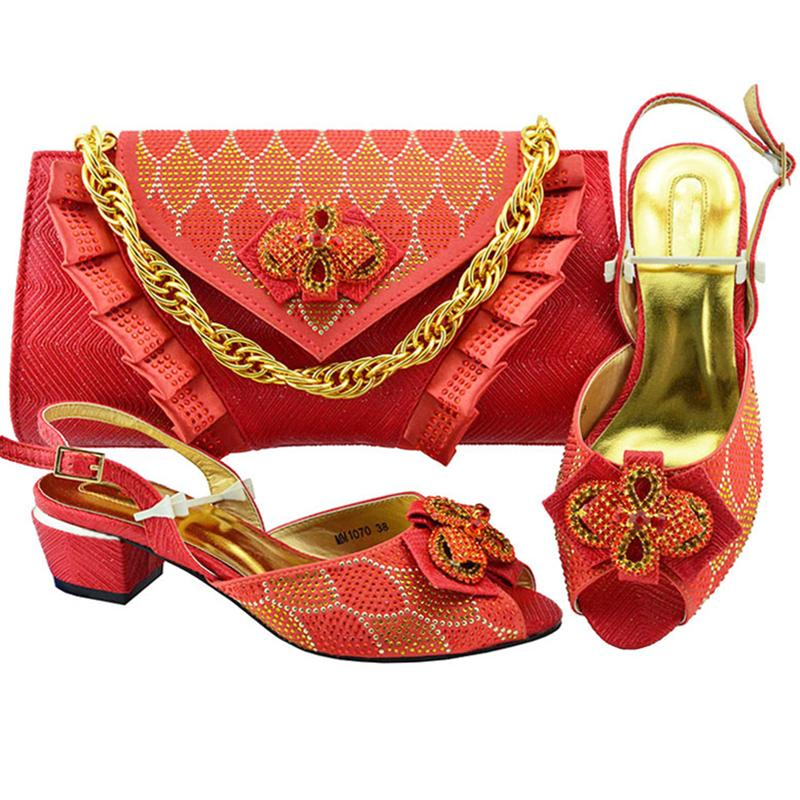 African Wedding Italian Shoe And Bag Sets Women Shoes with Matching ... a05c2636eaab