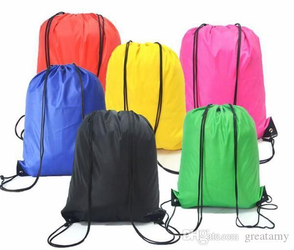 4852bf363451 Kids Drawstring Bag Clothes Shoes Bags School Sport Gym PE Dance Backpacks  Nylon Backpack Polyester Cord Bag Backpack School Cheap Boys Backpacks From  ...