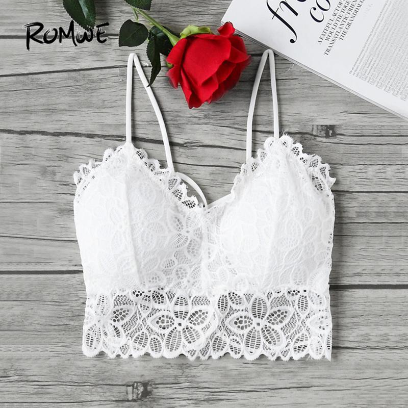 1e8e1154d7bde4 2019 Strappy Lace Camisole Sexy Boho Crop Top White Bralette Women Vintage  Summer Tops 2018 New Elegant Sheer Backless Camisole From Zhusa