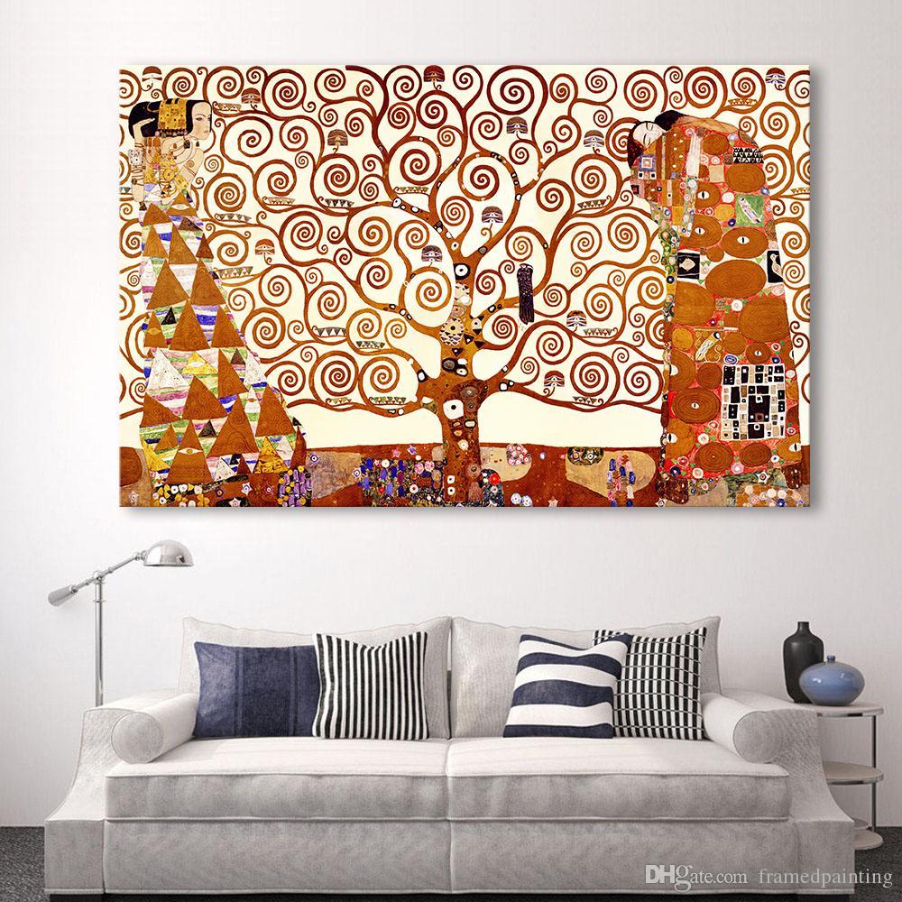 Acheter Arbre De La Vie Mur Art Peinture Moderne Image Pour Salon Décor à La Maison Imprimé Sur Toile No Frame De 25 52 Du Framedpainting