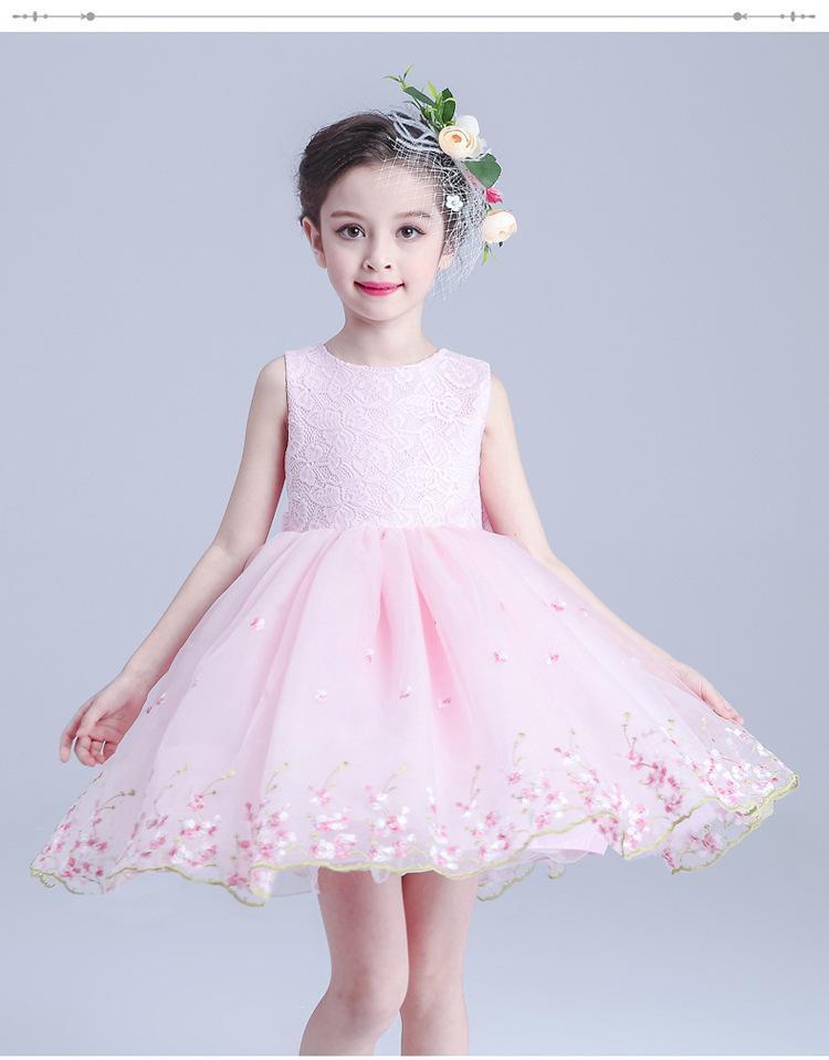 Le nuove ragazze vestono la moda 2017 vestiti dei bambini di estate Principessa Girl Party Dress Costume Bambini Abiti da sposa le ragazze vestiti