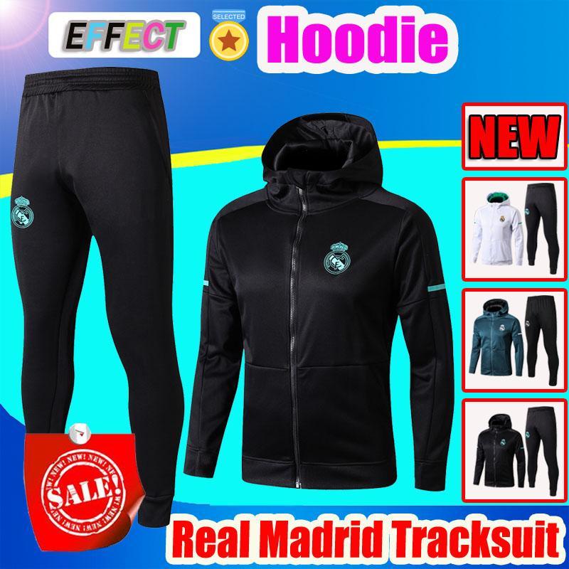 Compre 2018 2019 Real Madrid Sudaderas Con Capucha Kits De Chaqueta Traje De  Entrenamiento MARIANO MODRIC BALE Chandal Chándales Maillot De Foot  Survetement ... 8b406b066253e