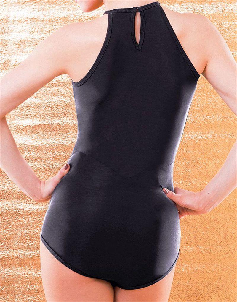 Black Adult/Girls Latin Dance Bodysuit Salsa Tango Modern Ballroom Competition Dance Dress Sexy Sleeveless Top/T-Shirt