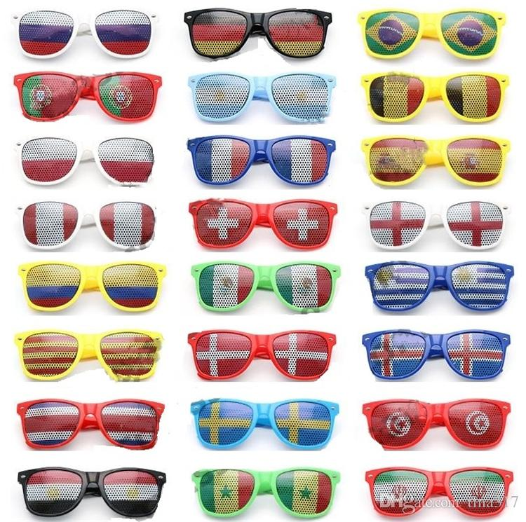 World Cup Football Festival Fans Sunglasses For National Flag Bar Party Fans Sunglasses Athletic & Outdoor eyewear C0144 120PCS
