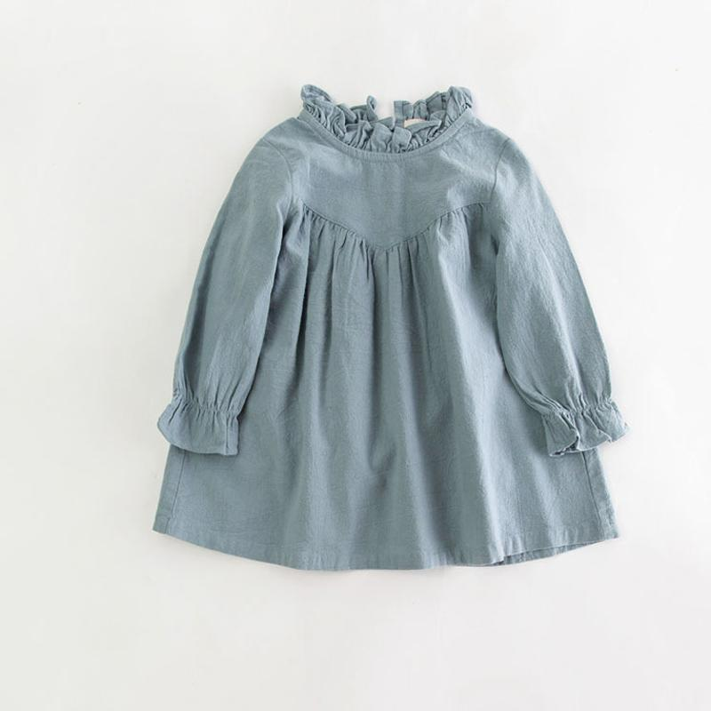 a57f986cf4 2019 Retail Children Girl Spring Cotton And Linen Dress Vintage Baby Girl  Loose Shirt Dress High Quality Girl Blouse Autumn Clothes From Runbaby