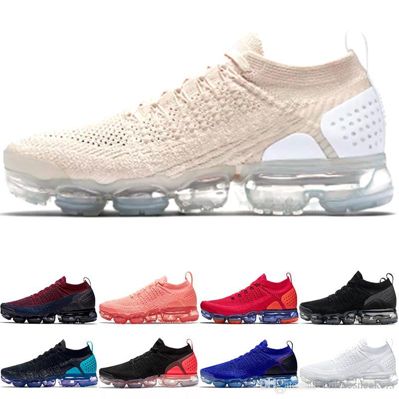 d5e513979372f Compre Nike Air Max Vapormax 2.0 Airmax Barato PLUS 2.0 Mens Mulheres Tênis  De Corrida Triplo Preto Branco Vermelho Órbita Manga Olímpica Trovão Cinza  ...