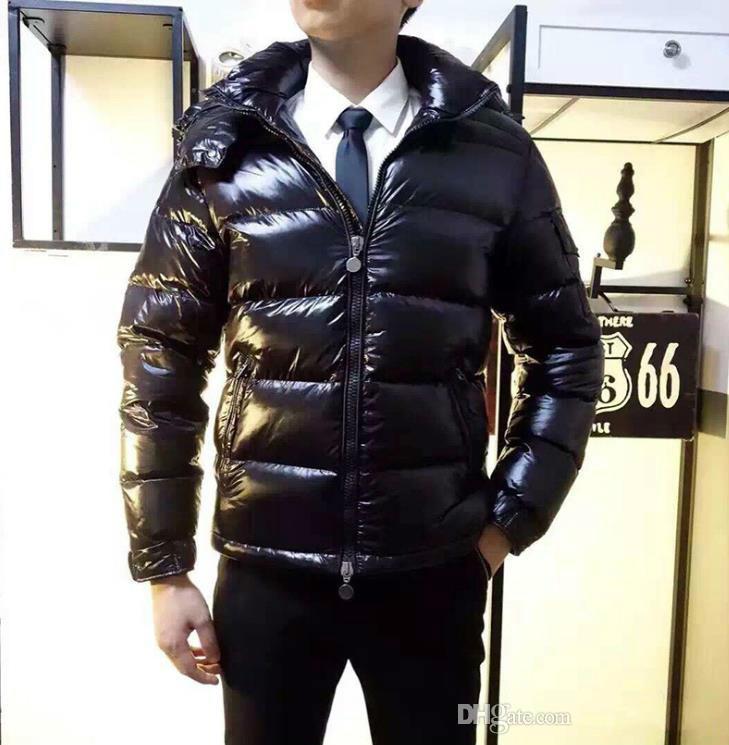 516259a4ba8cc Acheter Hommes Femmes Classique Marque Casual Down Jacket Mat Brillant  Manteaux En Duvet Hommes Col De Fourrure En Plein Air Chaud Robe De Plumes  Unisexe ...