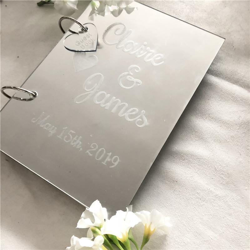 Grosshandel Acryl Cover Hochzeit Gastebuch Benutzerdefinierte Namen