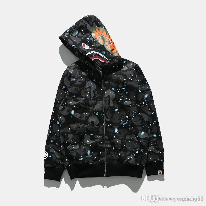 2019 Fashion Shark Hoodies Noctilucan Camouflage Kanye West Sweatershirt  Bathing Pullover Hoodie Hip Hop Windbreaker Jacekt For Man Fear God From  Yongbing88 ... 0e535a5c4