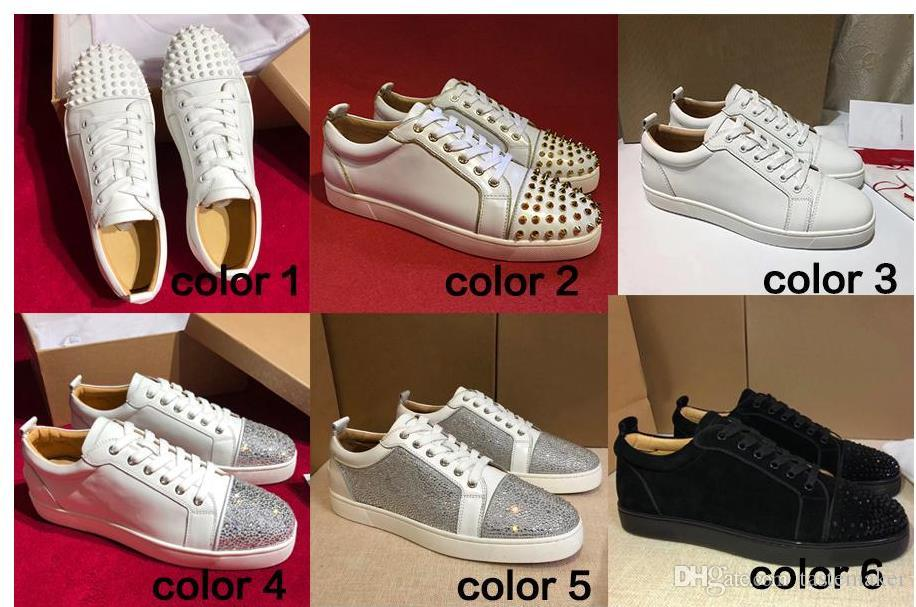 0365cb2ee40 New Original Box Men Shoes Red Bottom Sneaker Luxury Designer Party Wedding  Shoes