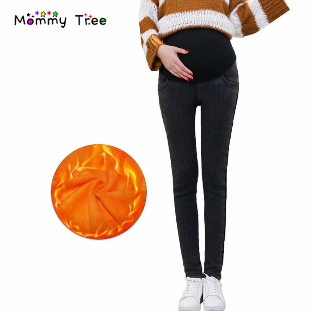 86c5a3b2e902c 2019 Plus Size 3XL Winter Warm Fleece Maternity Jeans Thick Classic Style Pregnancy  Denim Pants Maternity Clothing For Pregnant Women From Paradise13, ...