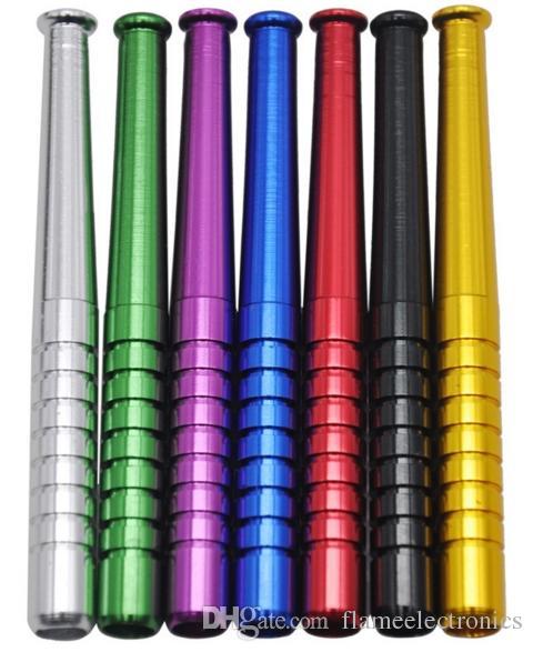 78 мм 55 мм щепотку нападающие алюминиевый курительная трубка металлические табачные трубы бейсбольной битой мода аксессуары для курения для сухой травы