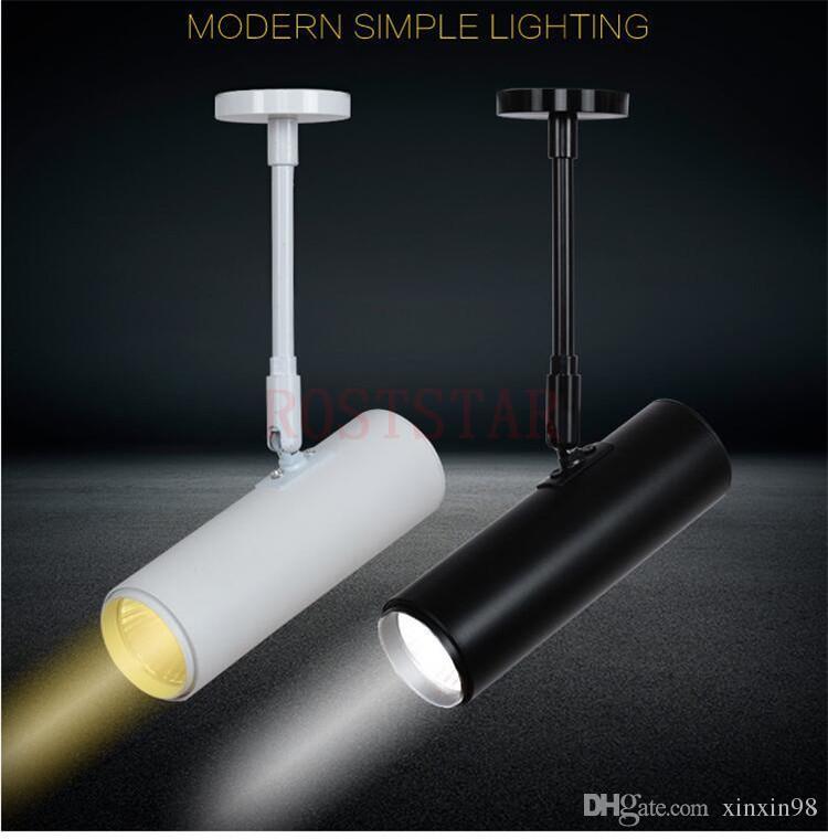 Heißer Verkauf 20W / 30W White Shell / Schwarz Shell COB Schienengleis Licht COB führt Schienen-Licht COB Led Oberfläche Mounte Down Light AC85-265V