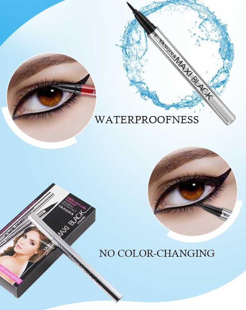 Matita eyeliner da donna Impermeabile Professionale Liquido di lunga durata Cosmetici Eyeliner Pen Black Make Up Tools bea496