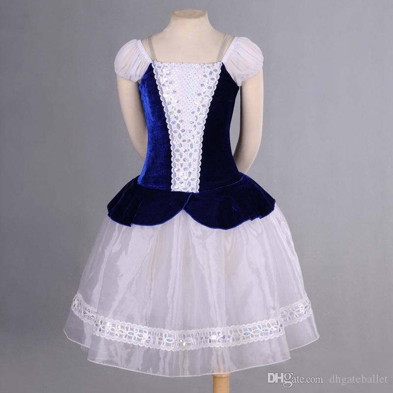 35f1c1141 Compre Azul Branco Camponês Romântico Ballet Ballet Tutu Ballet Costume  Adulto Mulheres Village Girl Professional Ballet Saia Longa De  Dhgateballet, ...