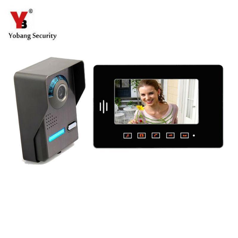 Yobang Security Touch Key 7 Wired Video Door Entry Phone Call System Visual  Intercom Doorbell Night Vision Outdoor Ir Doorphone Front Door Camera  Doorbell ...