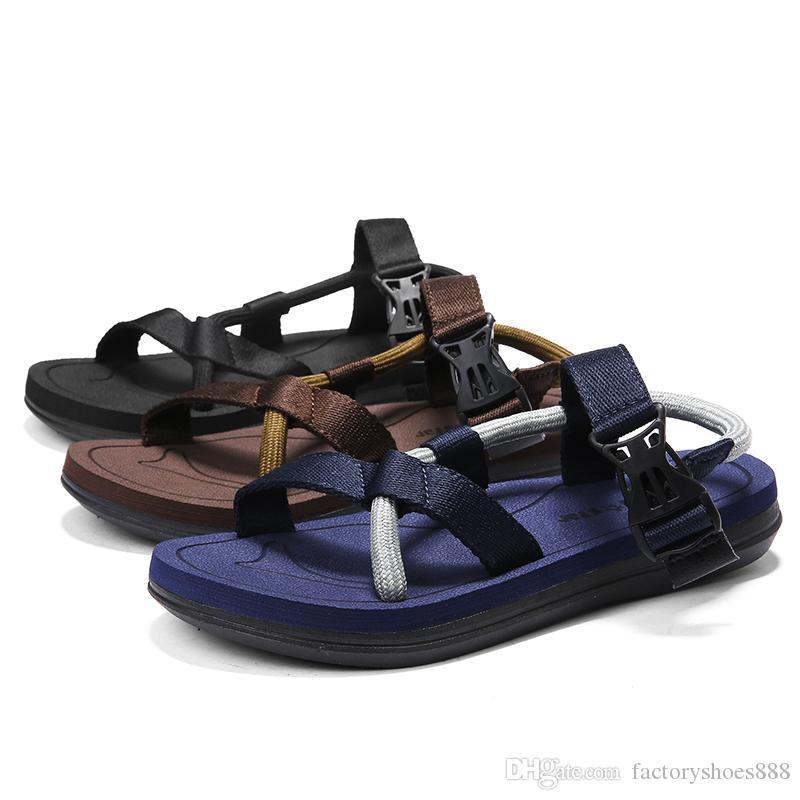 save off 256f1 6cef7 Sommer coole Sandalen Frauen Sport Outdoor Schuhe einfache Natureal Männer  Liebhaber Strandsandalen LX808-13