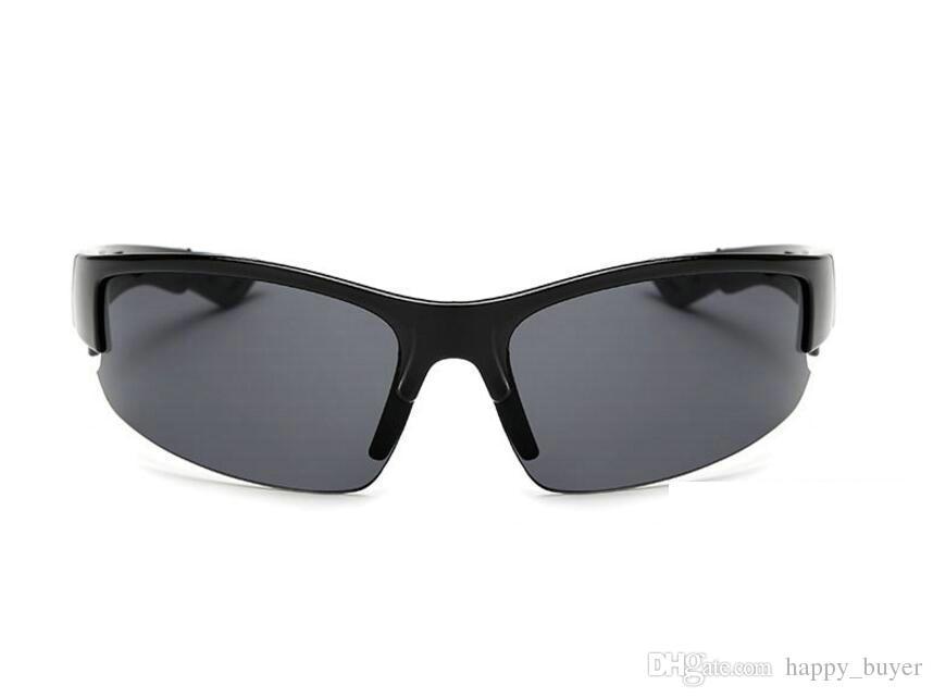 Meistverkaufte Mode Männer Sport Casual Sonnenbrille Outdoor Fahrrad Brille Sonnenbrille Schwarz Rahmen Grau Harz Linsen 6 Farbe Brillen Billig