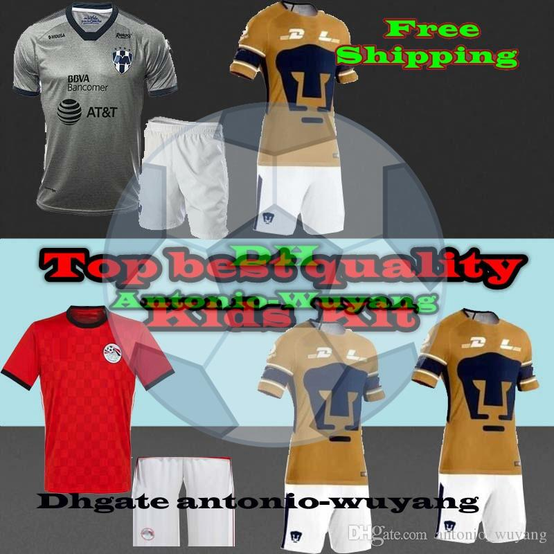 25fc168aaef 2019 Egypt Shirts 2018 World Cup Pants Soccer Football Jersey Shirts Egypt  Kids PUM UNAM Childs MONTERREY Away Third 2018 Jersey Kits From  Antonio_wuyang, ...
