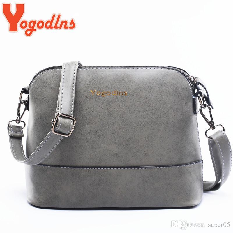 8214964e60 Yogodlns New Fashion Women s Messenger Bag Scrub Shell Bag Nubuck ...