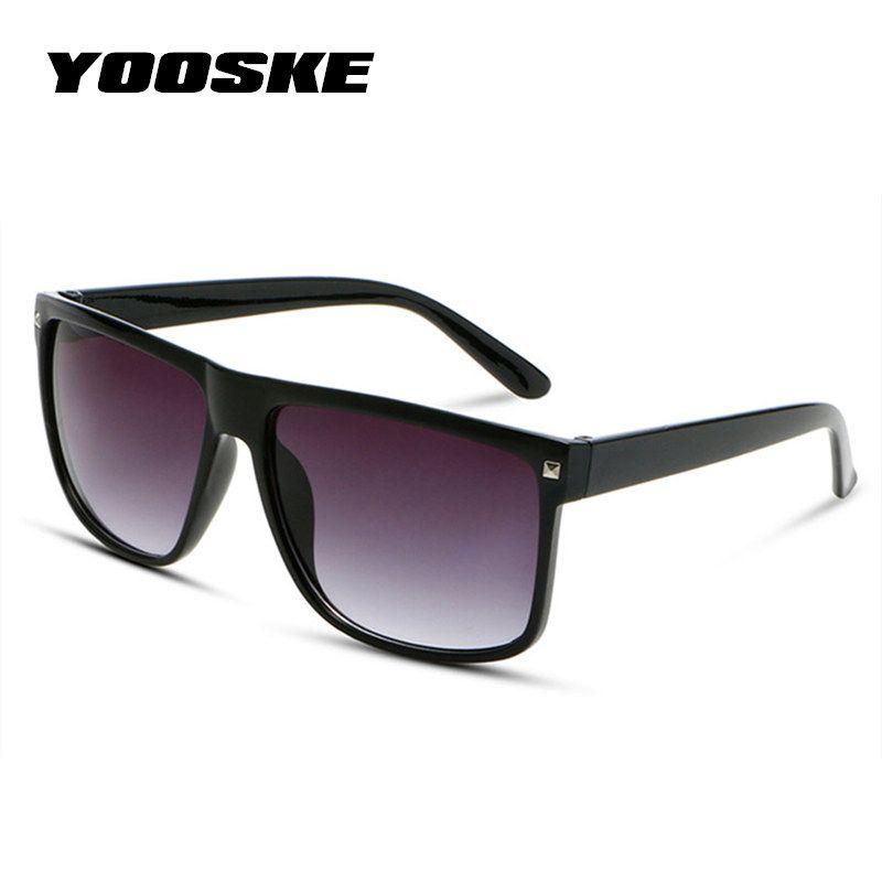 Compre YOOSKE Do Vintage Oversized Óculos De Sol Das Mulheres Designer De  Marca Big Frame Sunglass Homens Retro Tamanho Grande Óculos Shades Para As  ... be904457f1