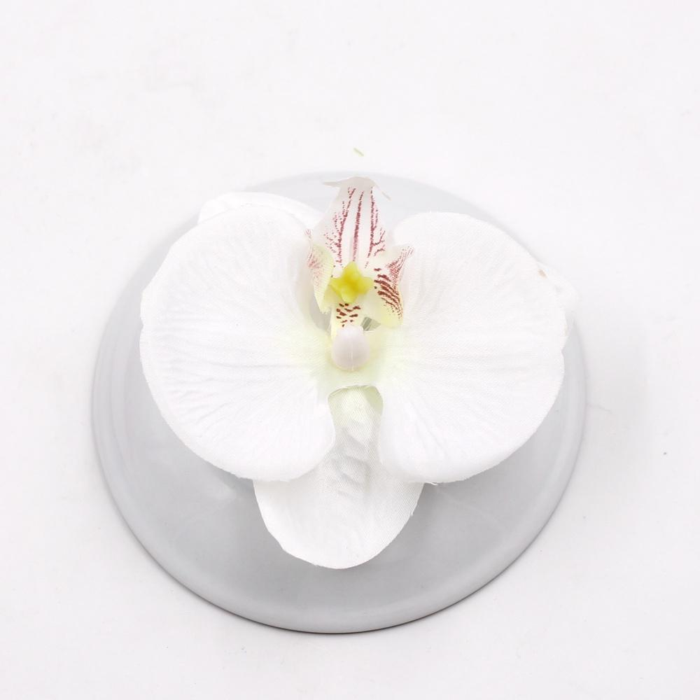 Wedding 100pcs Artificial Flower High Quality Silk Butterfly Orchid Head For Wedding Car Home Decoration Diy Flores Cymbidium Handmade