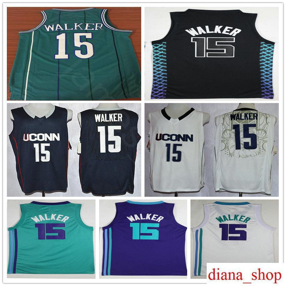 24132ad7a ... italy 2018 new city edition 15 kemba walker jersey teal green purple  white cheap mens hardwood