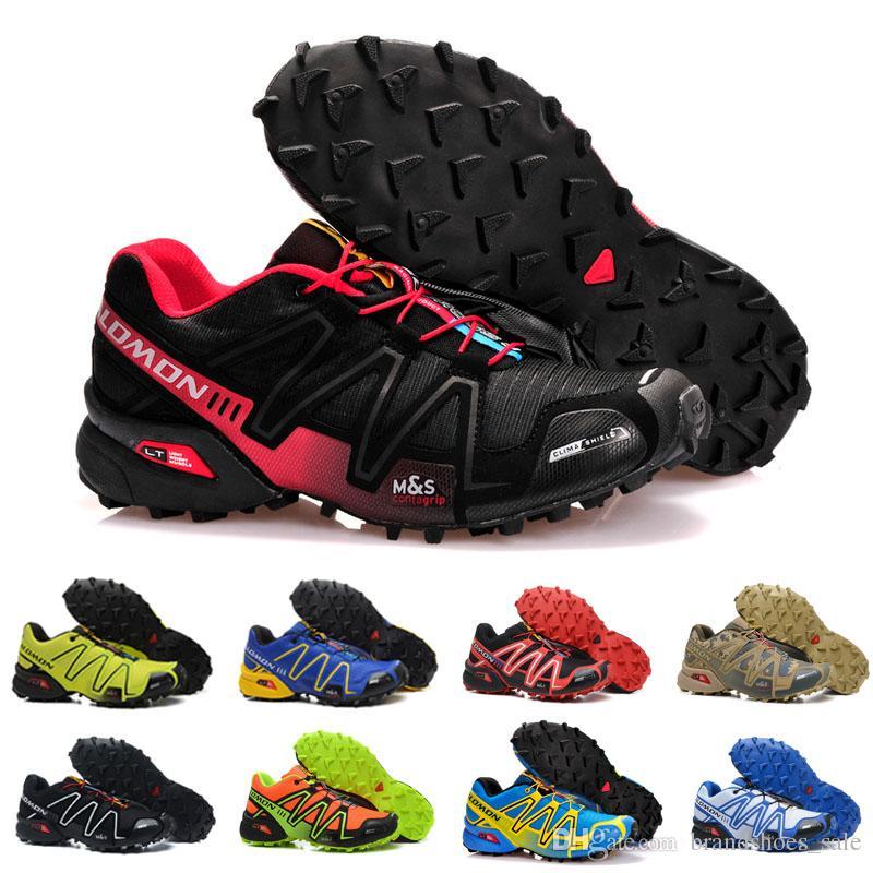 separation shoes d972b d8aac Compre 2019 Salomon Speed cross 4 IV CS Trail Zapatos Para Correr Para  Hombre Mujeres Negro Rojo Azul Deportes Al Aire Libre Senderismo Zapatillas  ...