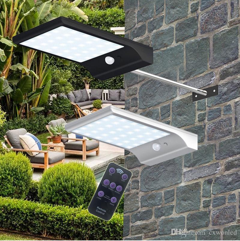 Solar Power LED Remote Control Adjustable 48led Waterproof Super Bright LED luce solare da giardino