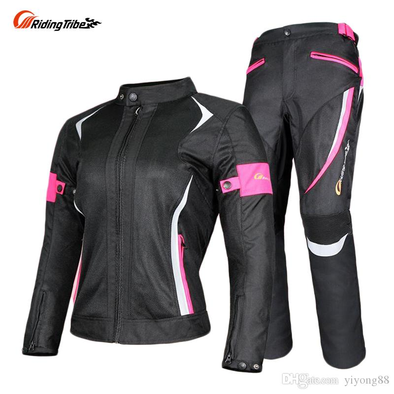 2019 Riding Tribe Women Motorcycle Jacket Pants Suit Jacket