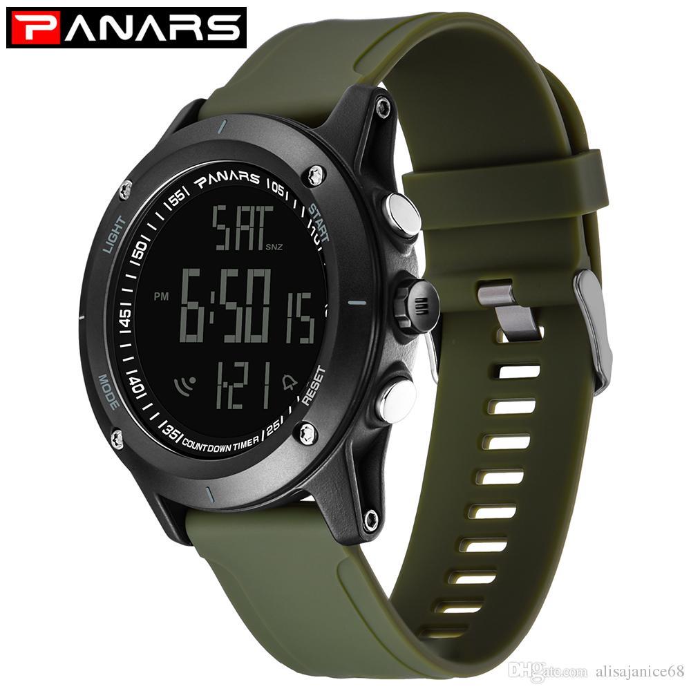 Plastique Relogio Montres Horloge Hommes Pu Led Bracelet Numérique Militaire Homme Sport Armée Casual Montre Masculino En WHE2DeIY9