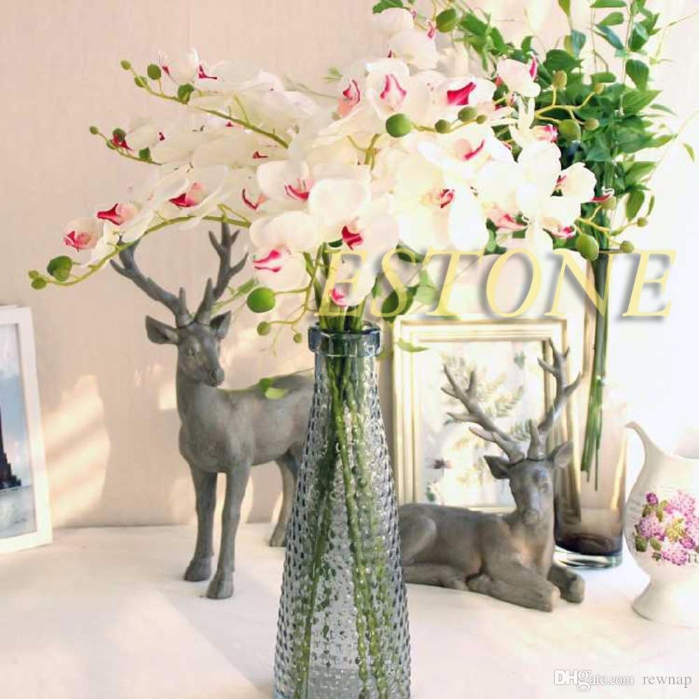 Discount Wholesale Artificial Butterfly Orchid Silk Flower Home