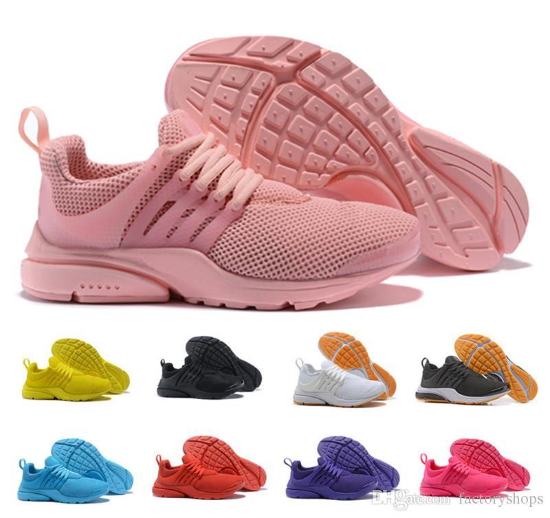 newest collection ab68f 854fa Compre El Más Nuevo Color 2018 Prestos 5 Zapatos Corrientes Hombres Mujeres  Presto Ultra BR QS Amarillo Rosado Oreo Moda Al Aire Libre Jogging Sneakers  ...