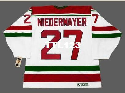 check out c3eeb f8419 Men #27 SCOTT NIEDERMAYER New Jersey Devils 1992 CCM Vintage Rookie Home  Hockey Jersey or custom any name or number retro Jersey