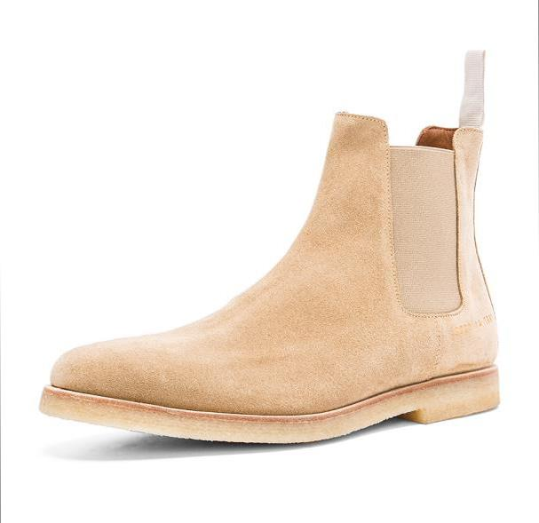 e640bd4e709 New Men s Chelsea Boots genuine Leather Handmade Luxury brand Kanye West  shoes Casual Shoes