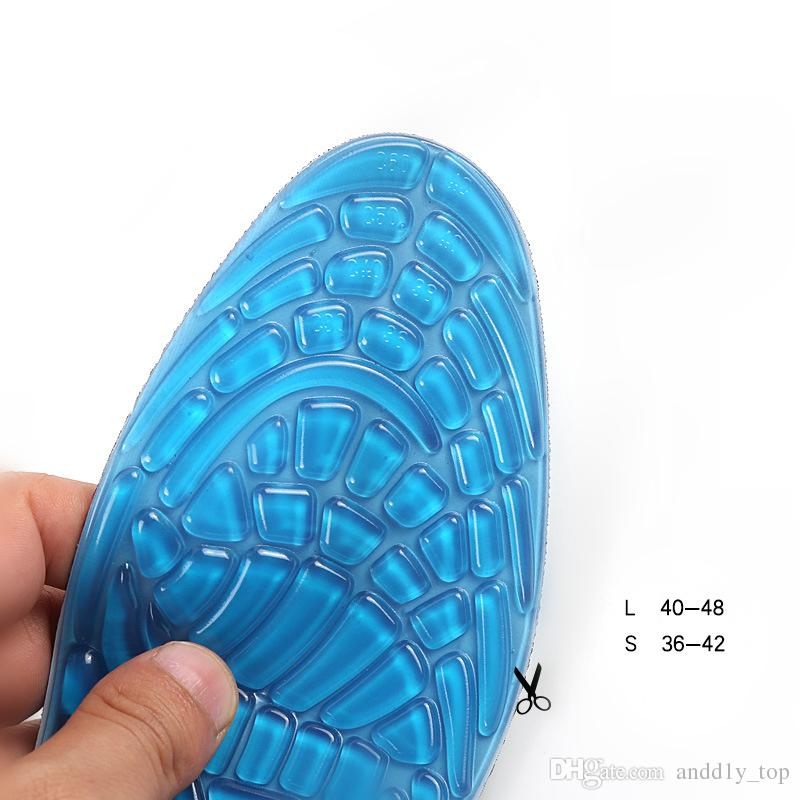Sport shoe pad arch support Insole Men and Women 3D Gel shock absorbing Breathable full pad Basketball football Running shoes Insoles