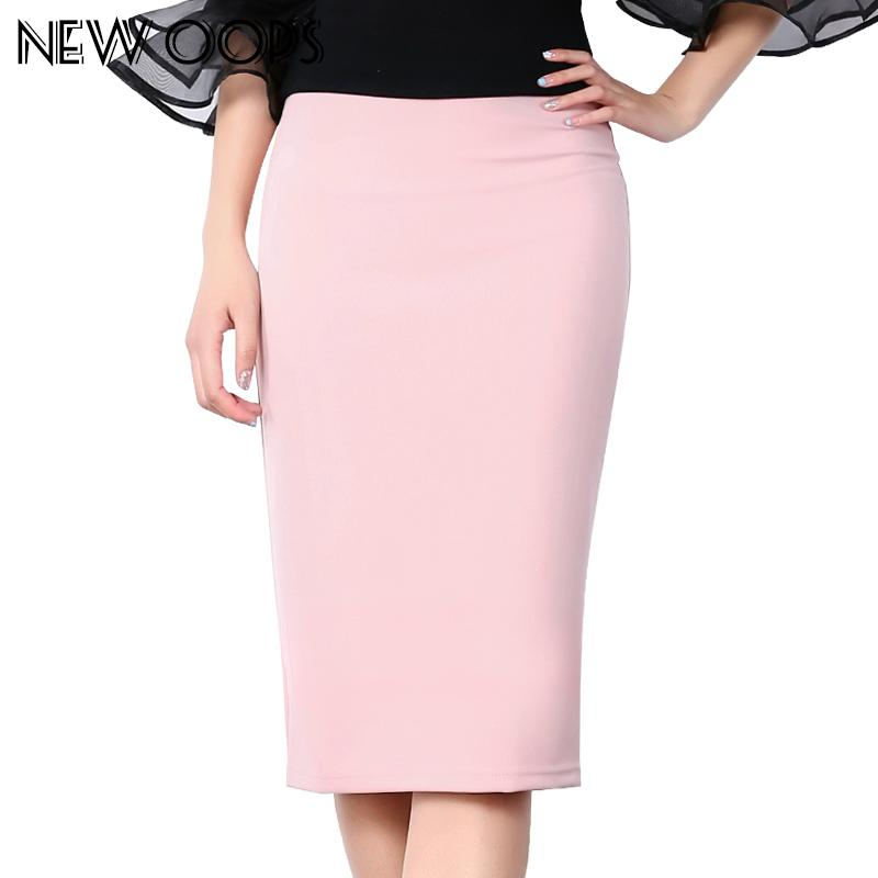 f3f1e2e89b9 NEW OOPS Casual Summer Chiffon Multi Color Midi Skirts 2018 Sexy Elastic  High Waist Slim Office Work Pencil Skirt Saias A1702030 UK 2019 From  Sugarlive