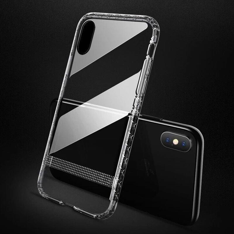 JOYROOM for Iphone XS Max Case Crystal Armoured Series Luxury Clear Soft TPU Back Cover Phone Cases for iPhone XS XR