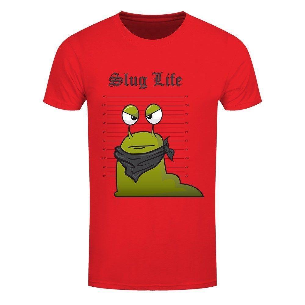 Slug Life Line Up Men S Red T Shirt