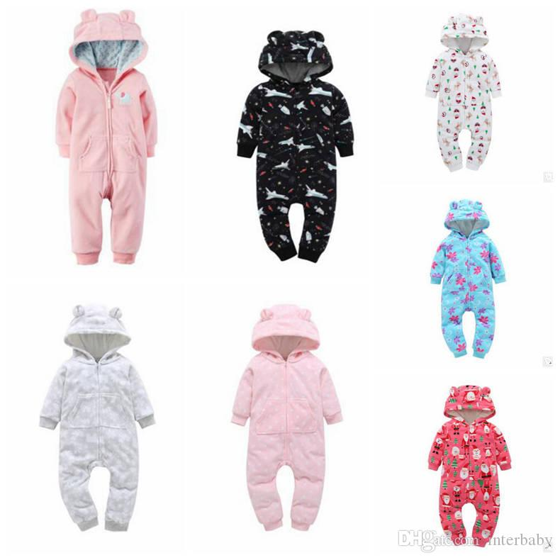 acff96d8e 2019 Kids Clothing Ins Baby Winter Rompers Boys Fleece Jumpsuits ...